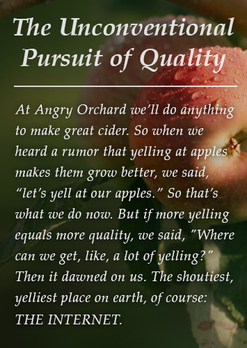 The Unconventional Pursuit of Quality